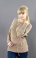 Женский свитер в теплых тонах