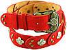 Красивый яркий женский замшевый ремень в стиле ретро 4 см. Traum 8826-07, красный