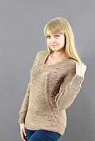 Женский свитер с круглой горловиной