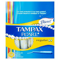 Тампоны Tampax Discreet Pearl Regular с аппликатором 18 шт