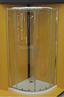 Душевая кабина полукруглая Vilarte QU-80 80x80x185