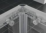 Душевая кабина SanSwiss ECOAC10000107 матовый алюминий, 1000х1000х1900 мм, фото 4