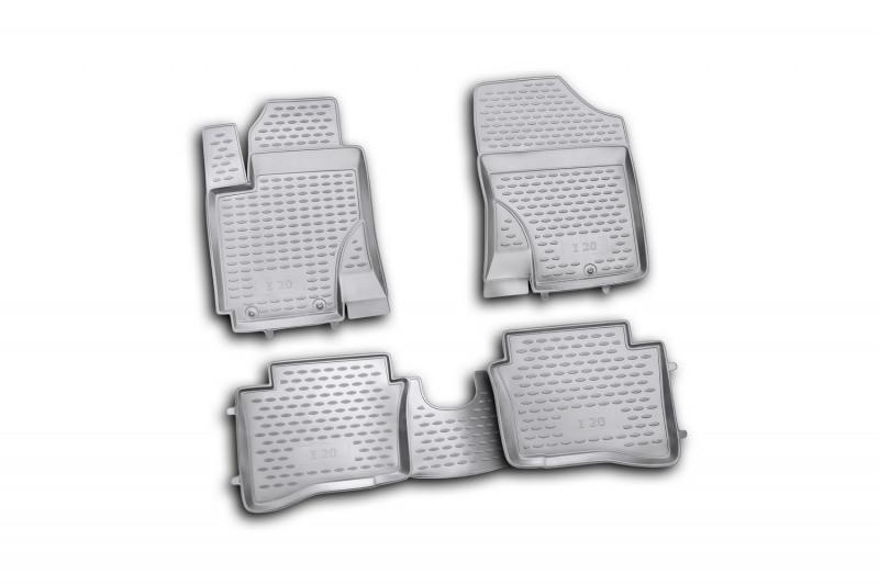 Коврики в салон для Hyundai i20 2009->, 4 шт полиуретан  NLC.20.32.210h