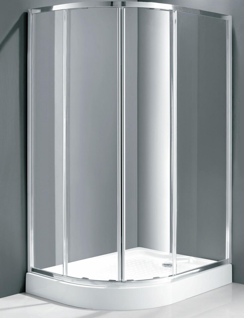 Душевая кабина асимметричная Italian Style Elegant E562 RM 120x90x185 правосторонняя
