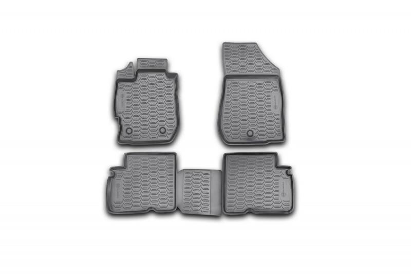 Килимки в салон для Nissan Almera, 2012-> 4 шт поліуретан 999RMG15BL