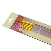 Набор кистей KOLOS, №7013, синтетика, 2 плоских + 3 кругл. кисти