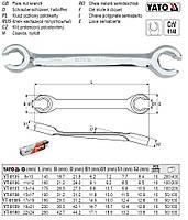 Ключ накладной полуоткрытый накладний напіввідкритий М=8х10 мм l=140 мм YATO-0135