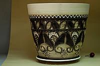 Цветочный горшок Конус, декор