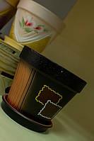 Цветочный горшок Конус акрил, рисовка в ассортименте