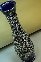 Ваза напольная Грация резка, синяя