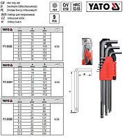Набір ключі шестигранники з кулею 20-12мм CrV 10шт YATO-0509