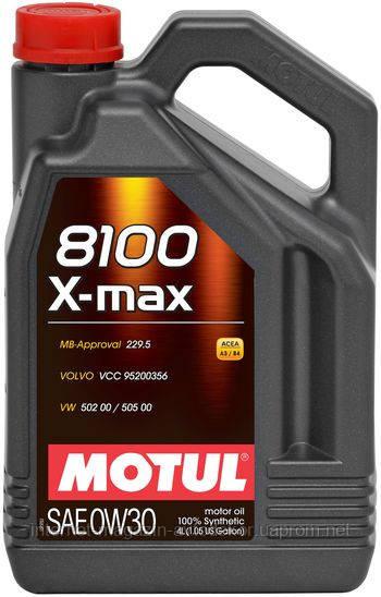 MOTUL 8100 X-MAX 0W-30 (4л)