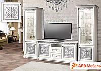 Комод ТВ-Тоскана/Toscana белый/серебро (Скай ТМ)