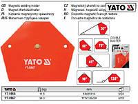 Магнитная магнітна струбцина зварки 111х136х24мм 34кг YATO-0867