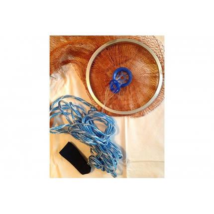 Кастинговая сеть Американка с кольцом диаметр 4,5 метра, высота 1,9 метра, капрон яч. 20 мм, фото 2