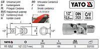 "Головка 12-гранная короткая 1/2"" М=11 l=38 мм YATO Польша YT-1273"