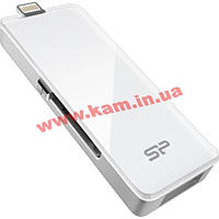 USB накопитель SILICON POWER xDrive Z30 32GB, USB 3.0/ Lightning, Белый (SP032GBLU3Z30V1W)