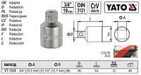 """Перехідник перехідник M=3/4""""(190 мм) (F) 1/2(127 мм) (М) l=53 мм YATO-1355"""