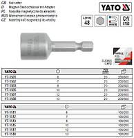 """Насадка головка торцева YATO 6-гранна магнітна 1/4"""" 6х48 мм YT-1501"""