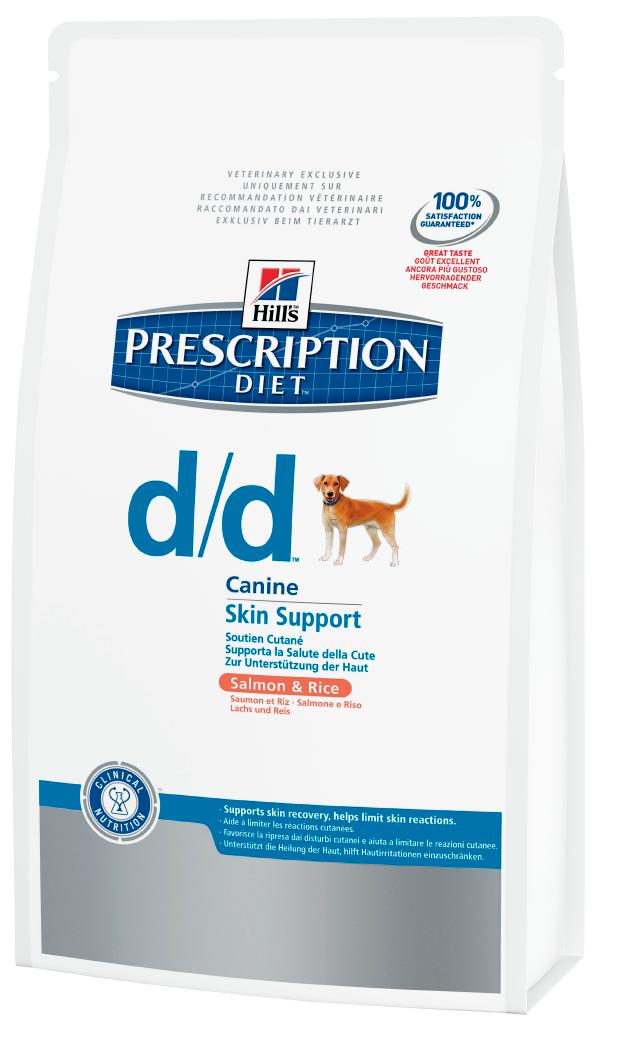 Лечебный корм для собак с чувствительным пищеварением, с лососем Hills Diet d/d