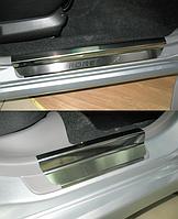 Накладки на пороги Subaru Forester II 2002-2008 4шт. premium