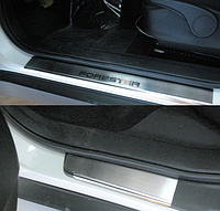 Накладки на пороги Subaru Forester III 2008- 4шт. premium