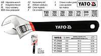 Ключ разводной розвідний гумова ручка L=150 мм YATO YT-21650