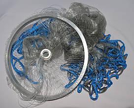 Кастинговая сеть Американка с алюминиевым кольцом 4 метра, высота 2 метра, леска яч. 12 мм
