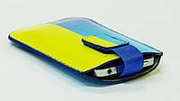 Чехол карман для Nokia 430 / Lenovo A6000 Флаг Украине сине-желтый (размер SL-XL)