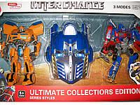 Робот Трансформер Большой Бамблби, Оптимус Прайм и маска! звук, свет