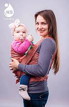 Слінг-шарф Моніка з народження, 15.0, 7, Спереду (обличчям до себе), Слінг-шарф, Льон
