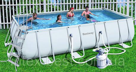 Bestway 56278 (56471) - каркасный бассейн Power Steel Rectangular Frame 671х366х132 см, фото 2