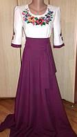 Шикарное вышитое платье в пол