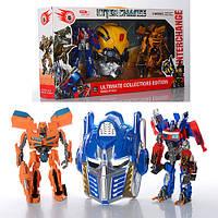 Робот Трансформер Оптимус Прайм, Бамблби и маска! звук, свет