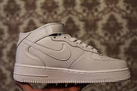 Кроссовки Nike Air Force 1 High White (Зам. кожа)
