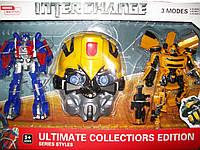 Робот Трансформер Большой Бамблби и Оптимус Прайм, маска! звук, свет