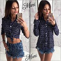 Рубашка женская летняя креп шифон разные цвета MIL110
