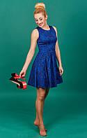 Жаккардовое модное платье