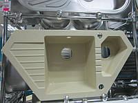 Гранитная угловая кухонная мойка Sinks Bravo 850.1