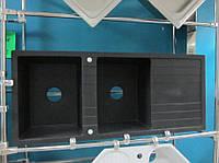 Гранитная кухонная мойка Sinks Level 2B 1D (черный металлик)