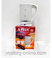 Электрочайник для автомобилистов, для дальнобойщиков, электрочайник А-Плюс 1518, объем 0,5 л, +2 чашки