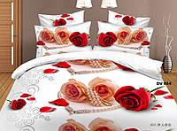 Красивое постельное белье евро Валентин