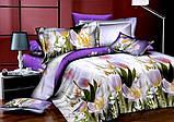 Красивое постельное белье евро Валентин, фото 2