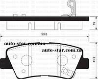 Задние тормозные колодки дисковые на KIA SOUL , SONATA 08-, (пр-во ABE C20314ABE)