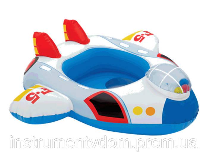 """Детский надувной круг для плавания с сиденьем INTEX 59586 """"Самолет"""" (81х72 см)"""