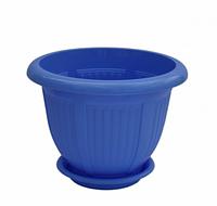 """Вазон с подставкой """"волна"""", синий, алеана 3,8 литра"""