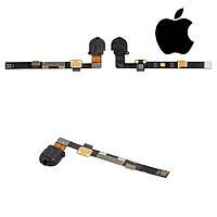 Шлейф для Apple iPad Mini 2 Retina, коннектора наушников, с компонентами, черный (оригинал)