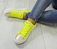 Женские кеды желтого цвета  размеры 36-41