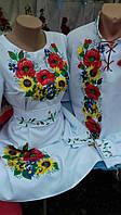 Стильное вышитое платье Подсолнух