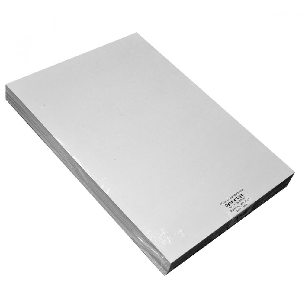 Обложки А4, 250 гм., AGENT, белые, 25 шт/упак.